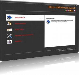 Pannello di controllo di Blaze VideoFramework